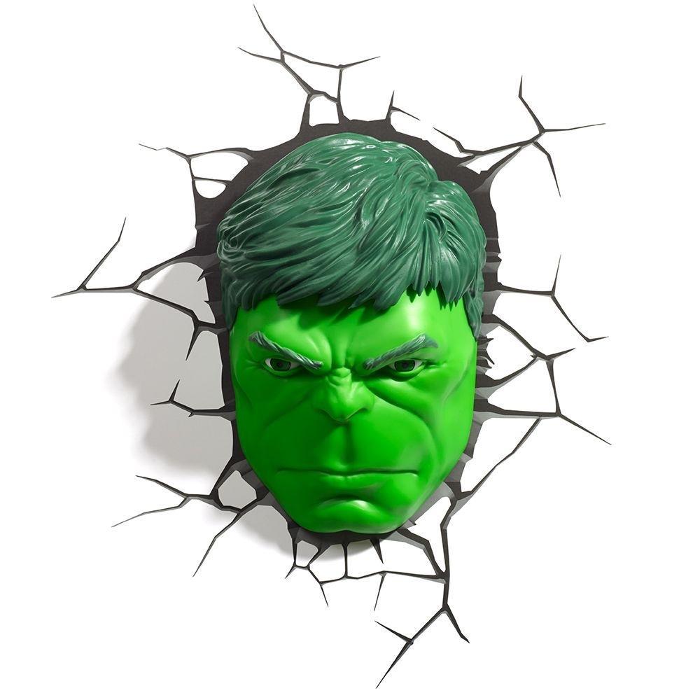 Luminaria 3d Light Fx Vingadores Rosto Do Hulk