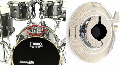 """Base de Bumbo para Tons D-One DCC1 Tom Bass Drum Bracket para Tubos de 1"""""""
