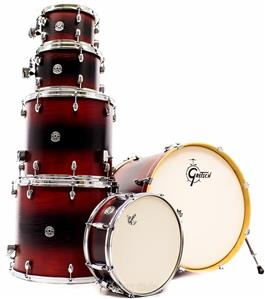 "Bateria Gretsch Catalina Signature Alexandre Aposan Red Black Burst 22"",10"",12"",16"",18"" (Shell Pack)"