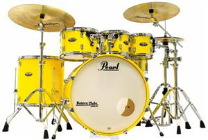 "Bateria Pearl Decade Maple High Gloss Solid Yellow 22"",8"",10"",12"",16"" com Kit de Ferragens 830"