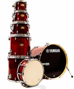 "Bateria Yamaha Stage Custom Birch Cranberry Red Lacquer 22"",8"",10"",12"",14"",16"" (Shell Pack)"
