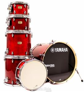 "Bateria Yamaha Stage Custom Birch Cranberry Red Lacquer 22"",10"",12"",14"",16"" (Shell Pack)"