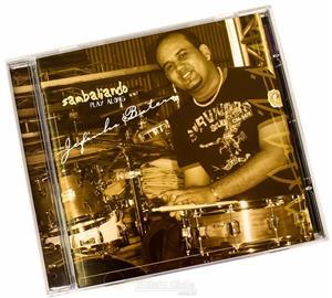 CD e Play Along Jefinho Batera com temas de Black Music, Samba e Gospel para tocar junto