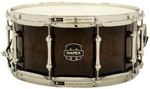 "Caixa Mapex Armory Exterminator Birch Walnut Ebony Stain over Figured Wood 14x6,5"" Aros Power Hoop"