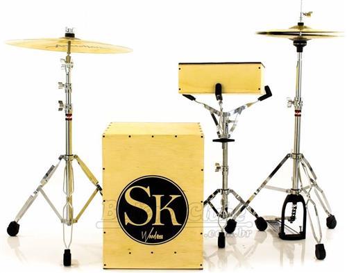 Bateria Wood Box SK Snare Kick Mini Bateria Cajón Kit Compacto com Bumbo e Caixa