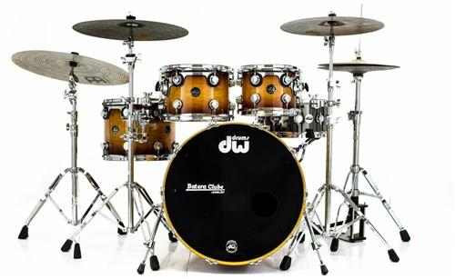 """Bateria DW Collectors Exotic Series Zebrawood Burst 22"""",10"""",12"""",14"""" ano 2001 Made in USA"""