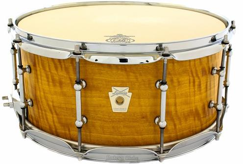 "Caixa Ludwig Classic Maple Limited Edition Exotic Satinwood Lacquer 14x6,5"" (Made in USA) Raríssima"
