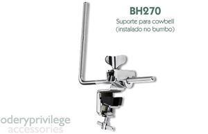 Clamp Odery Privilege BH270 para fixar Cowbell no Bumbo e Acessórios em Geral