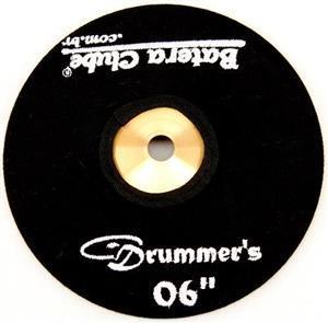 """Capa Protetora para Pratos Drummers Preta 06"""" Signature em Algodão"""