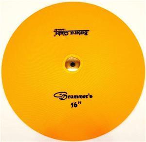"""Capa Protetora para Pratos Drummers Amarela 16"""" Signature em Algodão"""