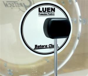 Pad de Bumbo Luen Protection Pad Kick para Pedal Single ou Duplo em Poliéster