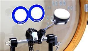Pad de Bumbo Kickport D-Pad Blue DPD White Bass Drum Impact com 2 Unidades Pad Kick