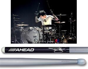 Baqueta Ahead Drumsticks Signature Tommy Lee TS Studio Mötley Crüe (Padrão 5B Comprida) Poliuretano