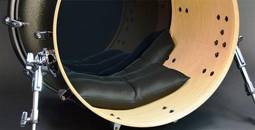 Abafador de Bumbo Pearl BDM-F Grande Bass Drum Muffler Full Size Compatível com diversas medidas