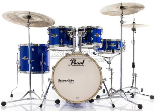 "Bateria Pearl Export EXX Jazz Mahogany High Voltage Blue 18"",10"",12"",14"" e 14x5,5"" (Shell Pack)"