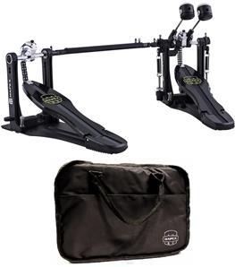Pedal Duplo Mapex P800TW Armory Series Dual Chain Drive com Bag e Pesos nos Batedores