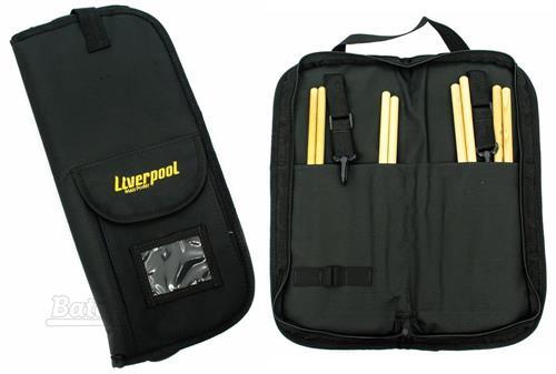 Bag de Baquetas Liverpool Black BAG-01P Tamanho Compacto com Várias Repartições