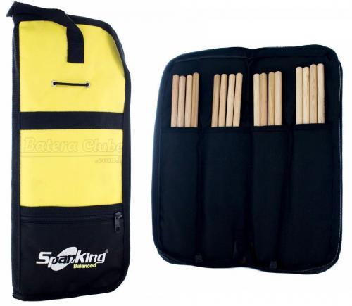 Bag de Baquetas Spanking Black/Yellow Compacto com Divisórias Internas (4162)
