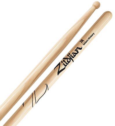 Baqueta Zildjian Select Hickory 7A Classic Z7A (Padrão 7A)