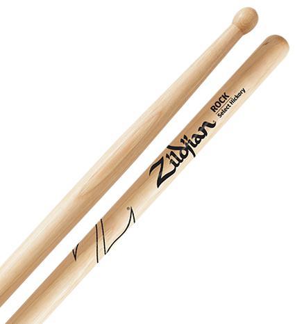 Baqueta Zildjian Select Hickory Rock ZRK (Padrão 2B Comprida)