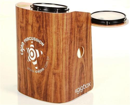 Bateria Cajón Percussion Gig Box GB-IM Imbuia Mini Bateria Cajón Kit Compacto
