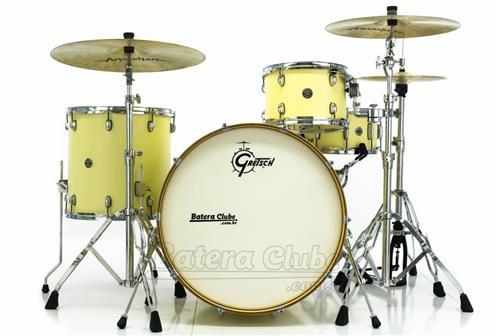 """Bateria Gretsch Catalina Club Rock White Chocolate com Bumbo 24"""", Tom 13"""", Surdo 16"""", Caixa 14x6,5"""""""