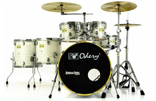 "Bateria Odery Fluence Jam Session FL.200 White Ash Maple 20"",10"",12"",14"",16"" com Kit de Ferragens"