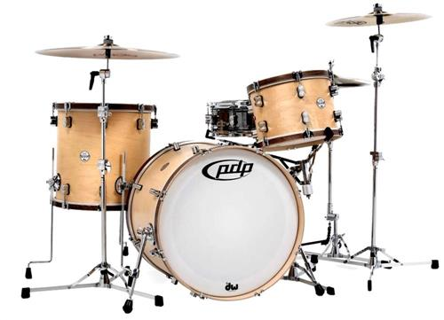 "Bateria PDP Concept Classic Maple Natural Wood Hoops com Bumbo 22"", Tom 13"", Surdo 16"" (Shell Pack)"