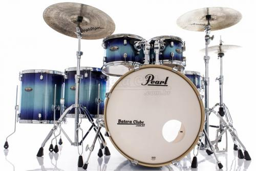 "Bateria Pearl Decade Maple Faded Glory Lacquer 22"",10"",12"",14"",16"" com Ferragens 830"