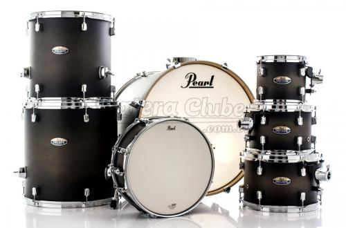 "Bateria Pearl Decade Maple Satin Black Burst 22"",8"",10"",12"",14"",16"" com Caixa (Shell Pack)"
