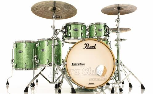 """Bateria Pearl Masters MCT Maple Complete Absinthe Sparkle 22"""",10"""",12"""",14"""",16"""" Thin Shells"""