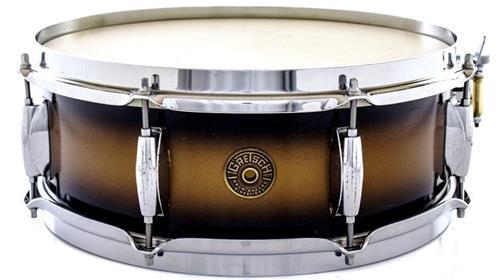 "Caixa Gretsch Broadkaster Satin Black Gold Duco 14x5"" Vintage Década 60 (Acervo)"