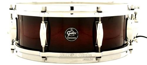 "Caixa Gretsch RN1 Renown Maple Series Cherry Burst 14x5"" com Aros Die-Cast"