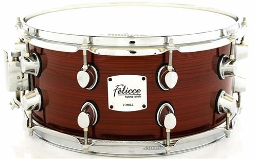 "Caixa Nell Felicce Series Hybrid Birch Red Wire 14x6,5"" com Aros Power-Hoop 2.3mm"