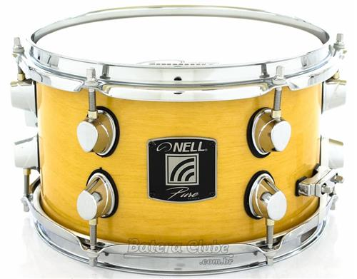 "Caixa Nell Pure Series Birch Shell Natural Wood Lacquer 10x6"" com Aros Power-Hoop 2.3mm e Casco 11mm"