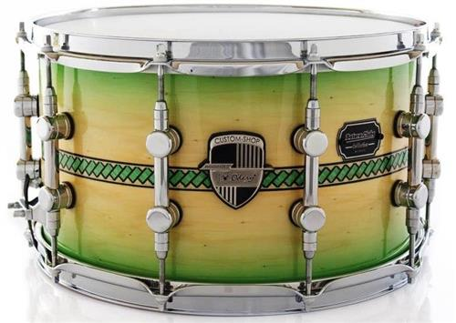 Caixa Odery Custom-Shop Limited Batera Clube Collection Charlotte Coral Green Burst Inlay 14x8""