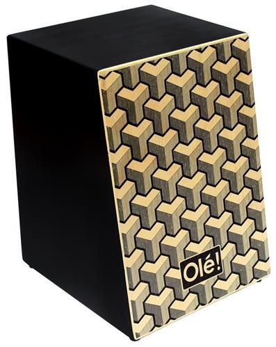 Cajón Olé Inclinado Tetris OL103A Acústico Tampo em Paricá e Esteira 18 Fios