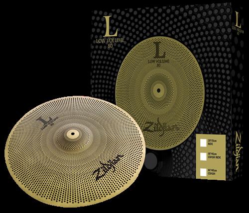 """Crash Zildjian Low Volume L80 16"""" LV8016C-S com Volume até 80% Menor"""
