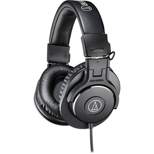Fone de Ouvido Audio-Technica Headphone M-Series ATH-M30X Impedância 47 Ohms e Fechamento Lateral