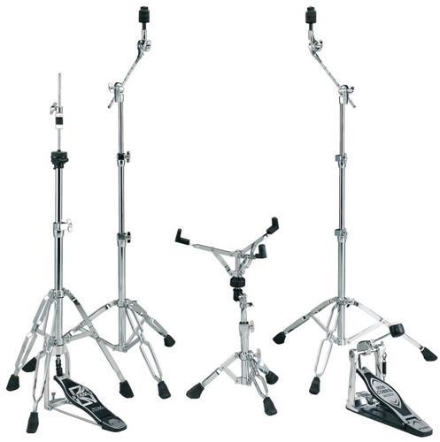 Kit de Ferragens Tama MM5WN Stagemaster com Pedal Iron Cobra, 2 Girafas, Est. Caixa e Máq. Chimbal