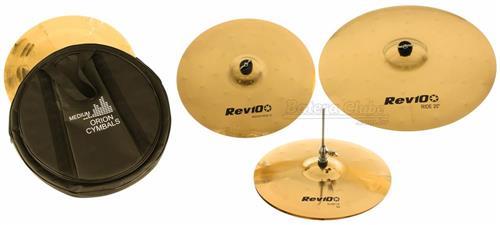 """Kit de Pratos Orion Revolution Pro 10 RV70 em Bronze B10 com Crash 16"""", Chimbal 14"""", Ride 20"""" e Bag"""