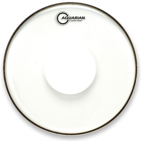 "Pele Aquarian Classic Clear 14"" com Power Dot Central (Similar Remo CS Clear) CCPD14"