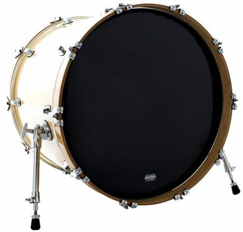 "Pele Attack Drumheads 1-Ply Medium Hazy Black Bass 20"" Filme Único Preto Resposta de Bumbo DHA20B"
