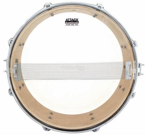 "Pele Attack Drumheads Snare Side Hazy Thin 14"" SS14T Resposta de Caixa"
