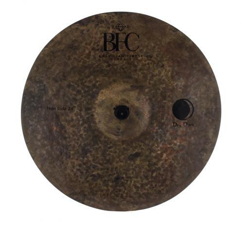 "Ride BFC Brazilian Finest Cymbals Dry Dark Thin 24"" DDTHRD24 em Bronze B20"