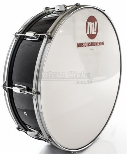 "Zabumba PHX Music Instrumentos Basswood Black 521R-DP-BK 22x7"""