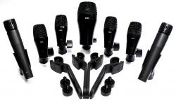 Kit de Microfones Darverson B52 com 7 Peças, Clamps e Cachimbos