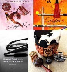 Super Pack Sallaberry com 2 CDs, Livro Manual Prático de Produção Musical e Baqueta