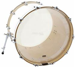"Pele Attack Drumheads 1-Ply No Overtone Bass Clear 20"" Pele de Bumbo com Muffle Abafador DHNO20"