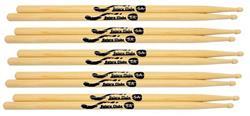 Baquetas Batera Clube by Liverpool 5A Comprida (Padrão 5A) Pacote com 5 Pares Marfim Wood Nirvana